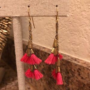 Eden Pink Tassel Earrings